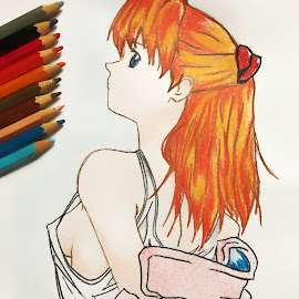 Sexy Asuka Langley Soryu by Israel  Padolina - Drawing All Drawing ( evangelion, cartoon, sexy, asuka langley soryu, anime )