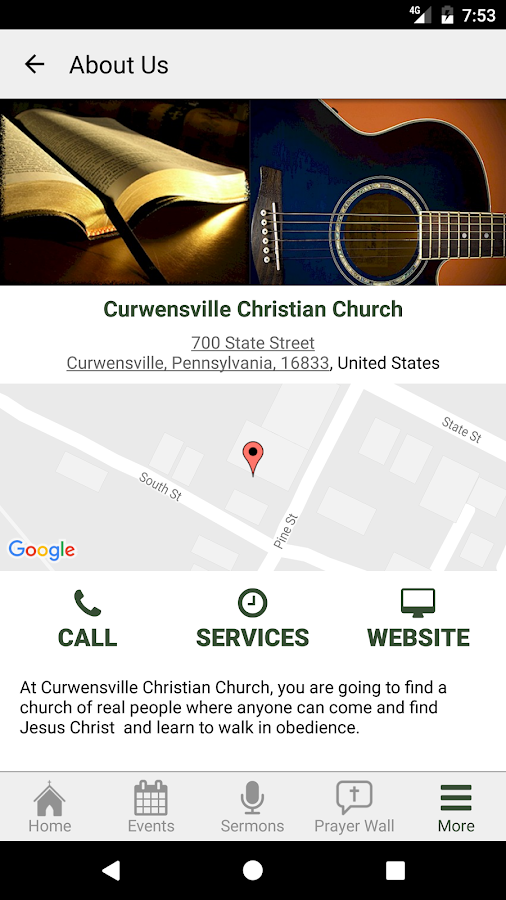 Curwensville Christian Church- screenshot