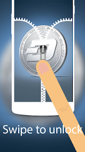 Dash Coin wallpaper Zip Locker android theme free - náhled