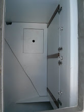 Photo: Looking down into nearly completed cockpit locker.