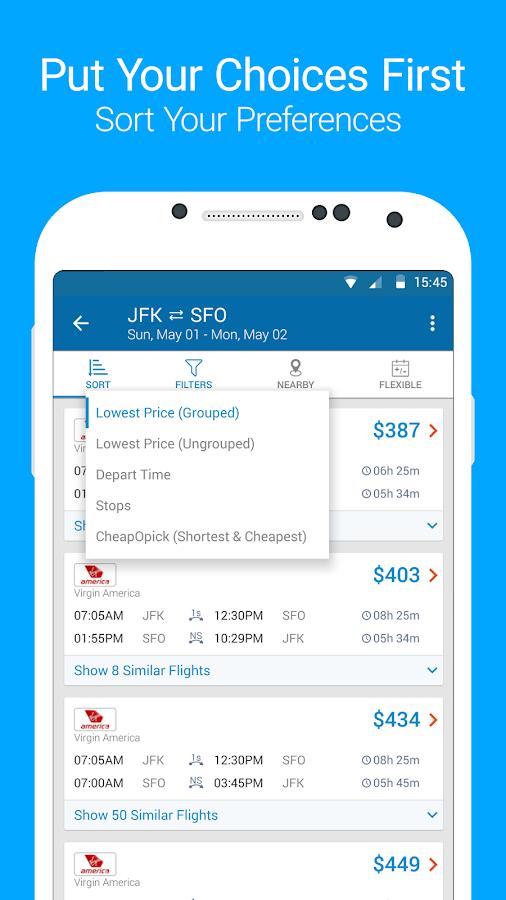 CheapOair Flights, Hotel & Car- screenshot