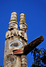 Photo: They have started a school to teach totem carving.
