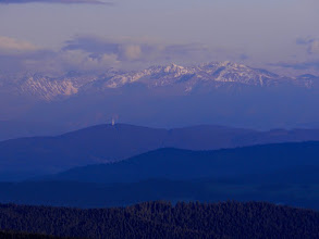Photo: Hala Rysianka, Beskid Żywiecki - widok na Tatry Zachodnie, poniżej grzbiet Skorusiny