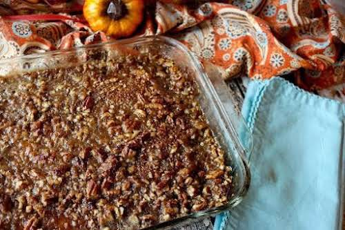"Glazed Pumpkin Bars""These pumpkin bars should have a warning label because we..."