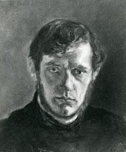 Photo: Portræt af Harald Kidde  malet af barndomsvennen Siegfred Neuhaus ( 1879-55).  Neuhaus var skolekammerat til Harald i Vejle Real- og Latinskole,  og kom ofte i hans hjem.