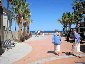 Photo: Loreto was a pleasant, easy-going little town. Here we are walking to a seafood restaurant  for lunch. Sea of Cortes is ahead.
