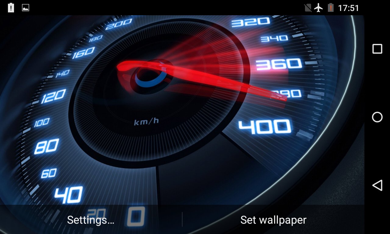 Speedometer Live Wallpaper 3d Android Apps On Google Play