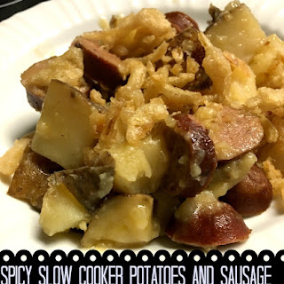 Spicy Slow Cooker Sausage and Potatoes.