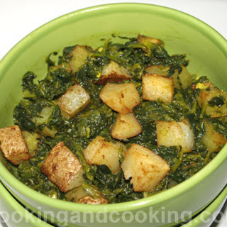 Spinach and Potato Dish