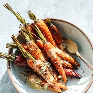 Sesame-Ginger Whole Roasted Carrots.