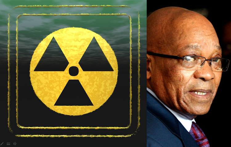 A composite of the nuclear symbol and President Jacob Zuma. Pictures: REUTERS, ISTOCK
