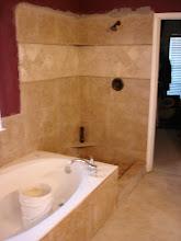 Photo: finished job of shower surround.