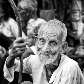 father by  Bivahasutra Wedding Photography - People Portraits of Men ( bangali, charakpuja, westbengal, kolkata, gajan, bengalinewyear, india, senior citizen, bengal )