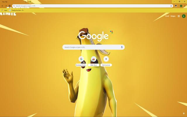 Peely Banana Fortnite Skin Theme