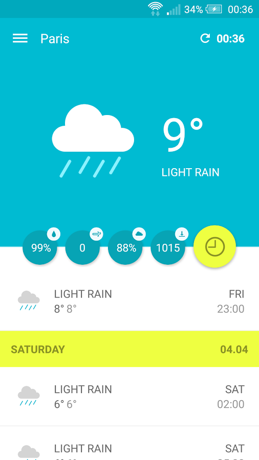 Wemple Weather- screenshot
