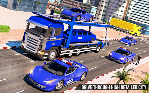 Download US Police Transporter Truck: Car Driving Games For PC Windows and Mac apk screenshot 2