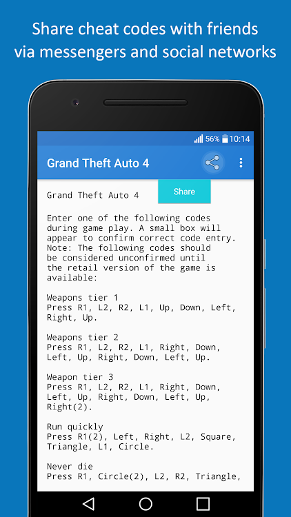 Cheats – (Android Apps) — AppAgg