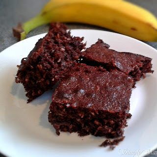 Banana and Coconut Brownies
