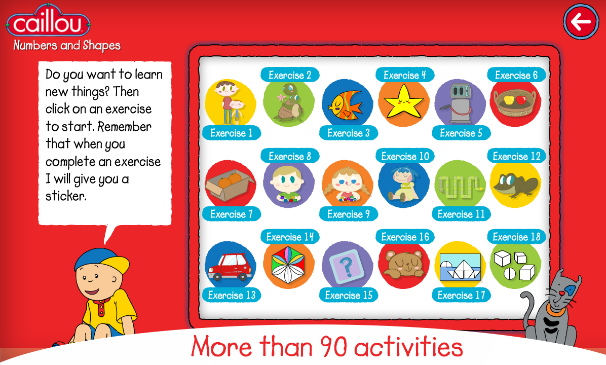 caillou learning for kids android apps on google play