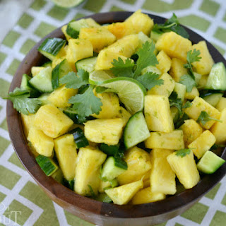 Pineapple Cucumber Lime Salad.