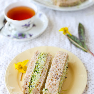 Herbed Avocado Egg Salad Tea Sandwiches.