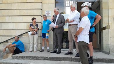 Photo: Discours d'accueil à la mairie de Rambouillet