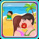 Kissing Game-Beach Couple Fun icon