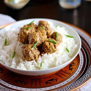 Thai Curry-Coconut Meatballs.