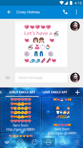 Girly Emoji Art-Video Keyboard