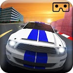VR Car Racing Simulation Icon