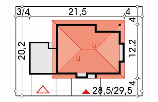 Alabama 3 wersja D z podwójnym garażem - Sytuacja