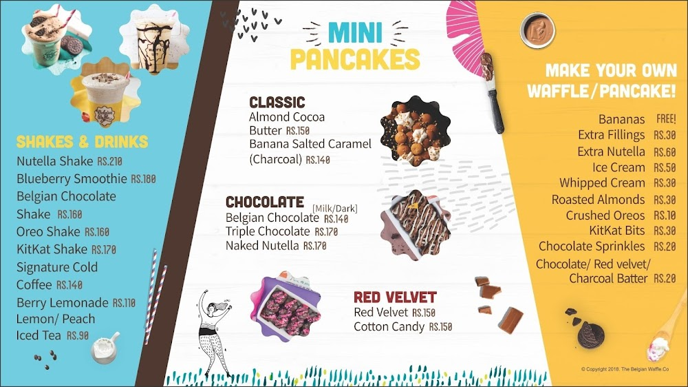The Belgian Waffle Co menu 2
