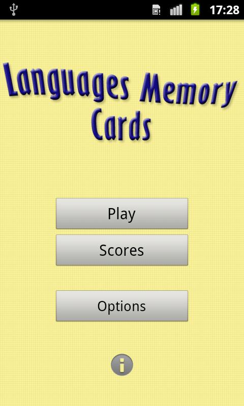 Скриншот Languages Memory Cards
