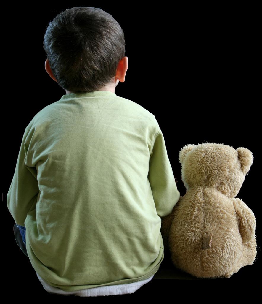 ... Boy and Teddy Bear Snip ...