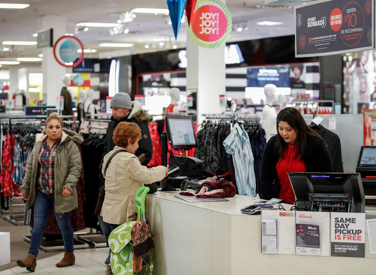 Shoppers at a store in North Riverside, Illinois, the US. Picture: REUTERS