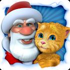 Papá Noel hablador y Ginger icon