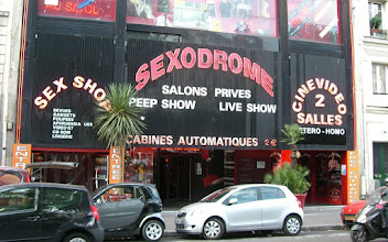 Photo: THE SEXODROME!!!  We are in the Paris red light district, near the Moulin Rouge