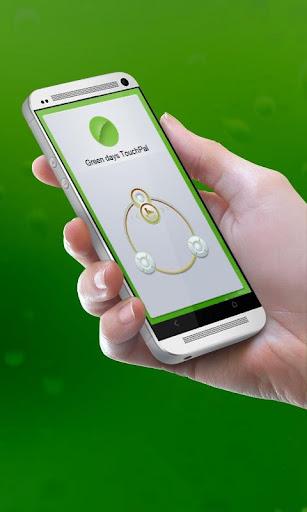 녹색 일 TouchPal 피부Pibu