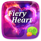 GO SMS PRO FIERY HEART THEME