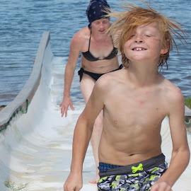 slide by Savannah Eubanks - People Family ( slide, water )