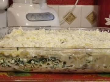 Spinach, Artichoke and Mushroom Lasagna