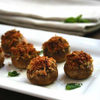 Parmesan Basil Stuffed Mushrooms.