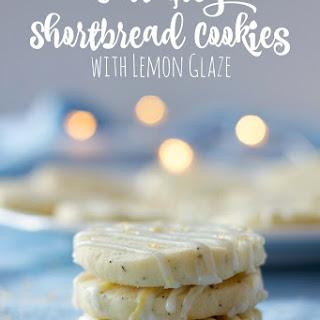 Earl Grey Shortbread Cookies with Lemon Glaze.