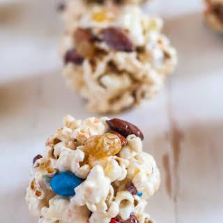 Trail Mix Popcorn Balls.
