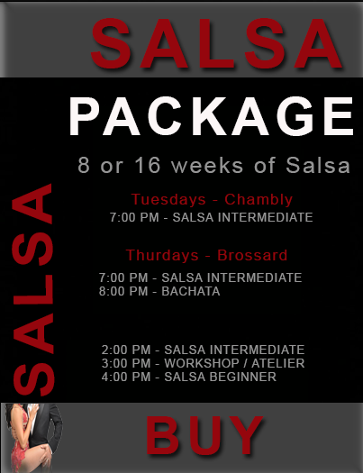 Salsa Package Hot Latin Salsa Dance Lessons Montreal, LaSalle Classes - Rive-Sud Bachata Lessons - Latin rhythms nearby