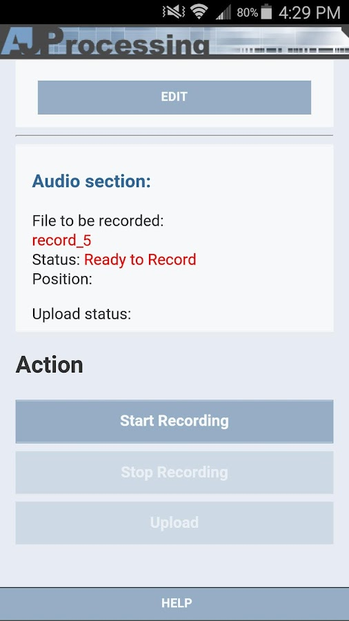 AJP Transcription Recorder- screenshot