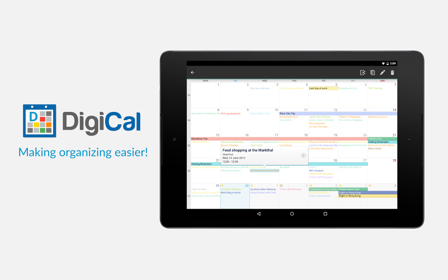 DigiCal Calendar- screenshot