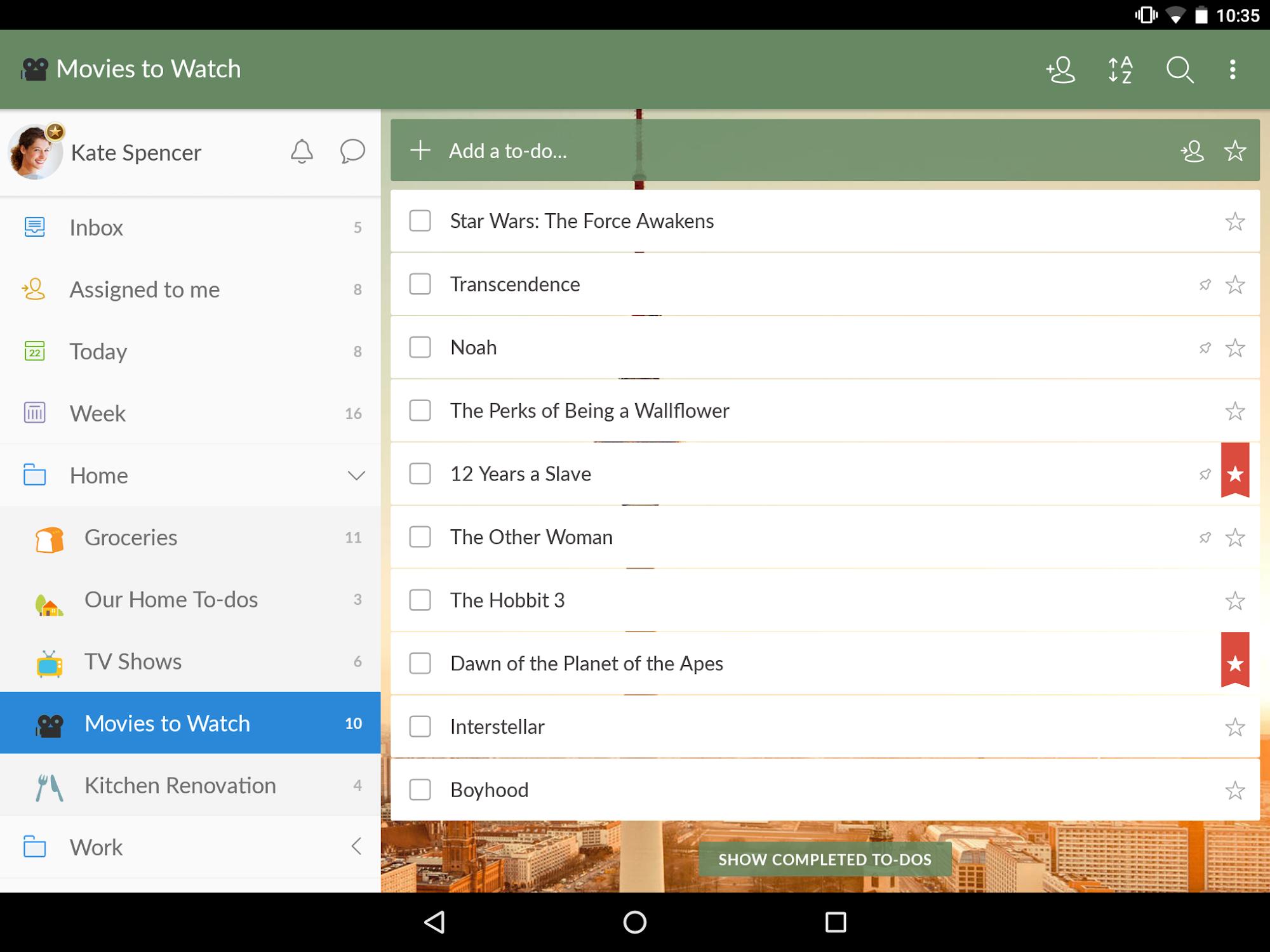 Wunderlist: To-Do List & Tasks screenshot #7