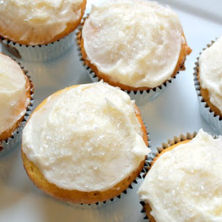 Lemon Cupcakes with Cream Cheese Frosting.