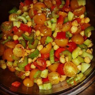 Low Salt Cucumber & Tomato Summer Salad